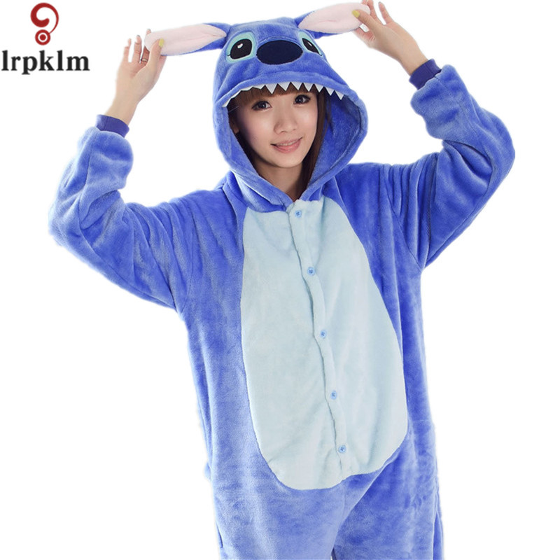 Blue Pink Stitch Pijama Pajamas Sleepwear Cartoon Animal Pyjamas Adult Onesies Costumes Party Halloween Pijamas S