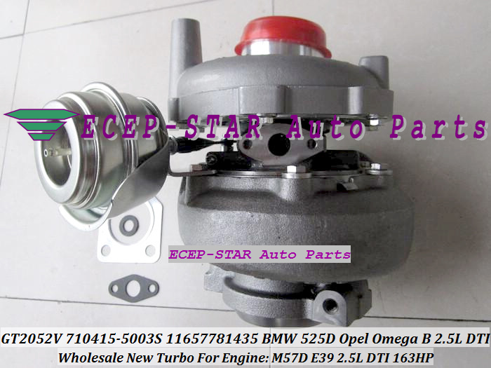 Livraison gratuite GT2052V 710415-5003 S 710415-0001 710415 Turbo pour BMW 525D 2002-2003 pour Opel Omega B 2.5L DTI moteur M57D E39 163HP