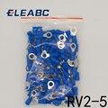 RV2-5 Синий Кольцо Изолированные мобильное радио VHF обжимной терминал кабель соединительный провод 100 шт./упак. RV2.5-5 RV