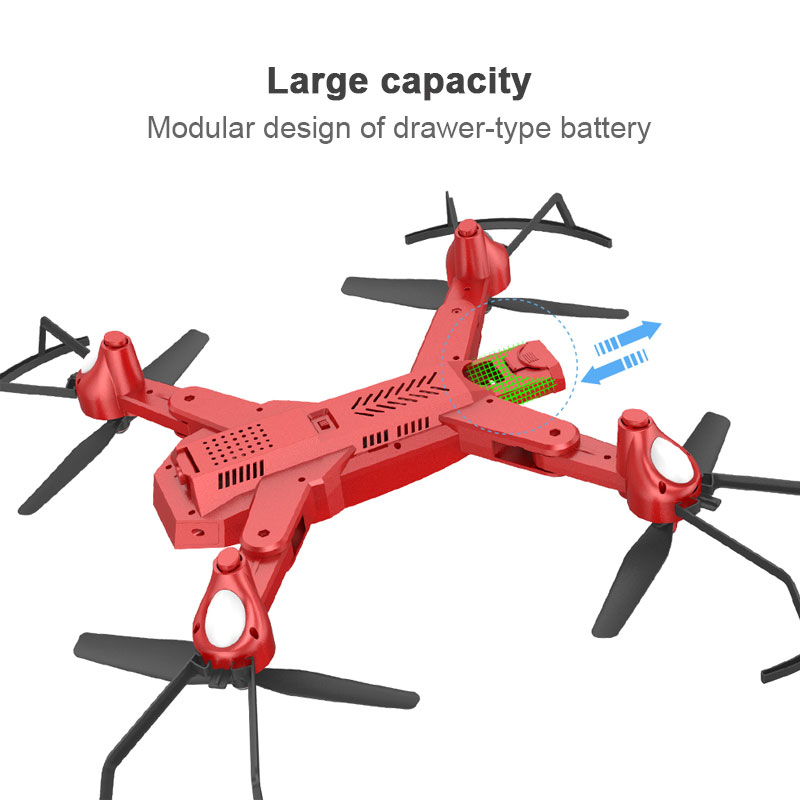 WiFi FPV Real-Time G-Sensor Quadcopter Drone Intelligent Aircraft App Control 3D Flips Altitude Hold USB Charge Foldable
