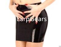 Черная латексная юбка женская латексная резиновая красная короткая юбка лолита школьная юбка Фетиш мини-юбка