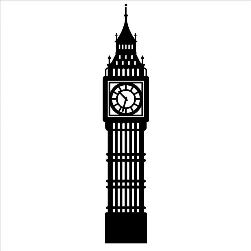 G367 Big Ben London Clock Vinyl Wall Art Sticker Decal For
