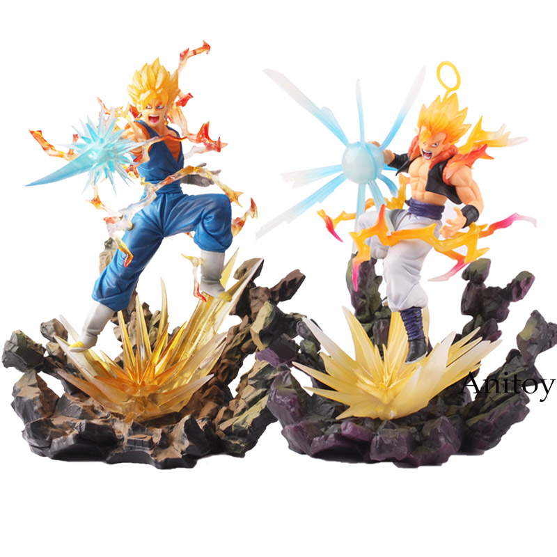 Dragon Ball Z Figuarts ZERO Action Figure Super Saiyan Vegetto VS Gogeta PVC Action Figure Collectible Model Toy 20-21cm KT4829 dragon ball dxf the super warriors vol 3 super saiyan rose gokou black and vegetto pvc figure collectible model toys kt4201