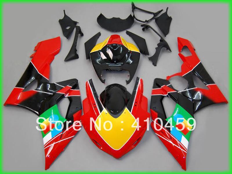 Injeection 型スズキ GSXR1000 GSX R1000 GSXR 1000 K5 05 06 2005 2006 ホットレッド Abs フェアリングセット SN35  グループ上の 自動車 &バイク からの カバー & オーナメント作り の中 1