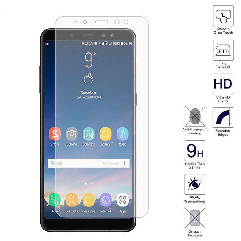 sfor samsung galaxy a8 2018 a830 luxury tempered glass film without package screen protector for. Black Bedroom Furniture Sets. Home Design Ideas
