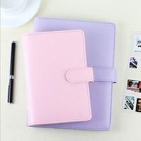 Original Macaron Lovely Zipper Hasp Dairy A5 A6 Spiral Planner Papers Agenda Binder Notebook Organizer Writting