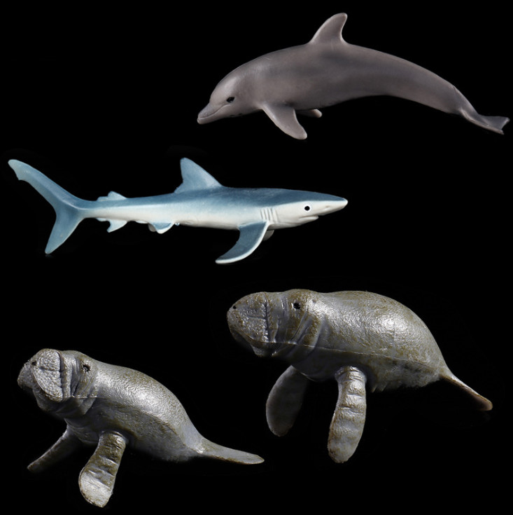 Manatee Plastic Toy Simulated Solid Models Emulation Action Anime Figure Kids Toys for Boys Children.