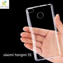 0.5mm for Xiaomi Redmi 3s Case Cover Ultrathin Transparent TPU Soft Cover Protective Case For Redmi 3 s Hongmi 3s bag