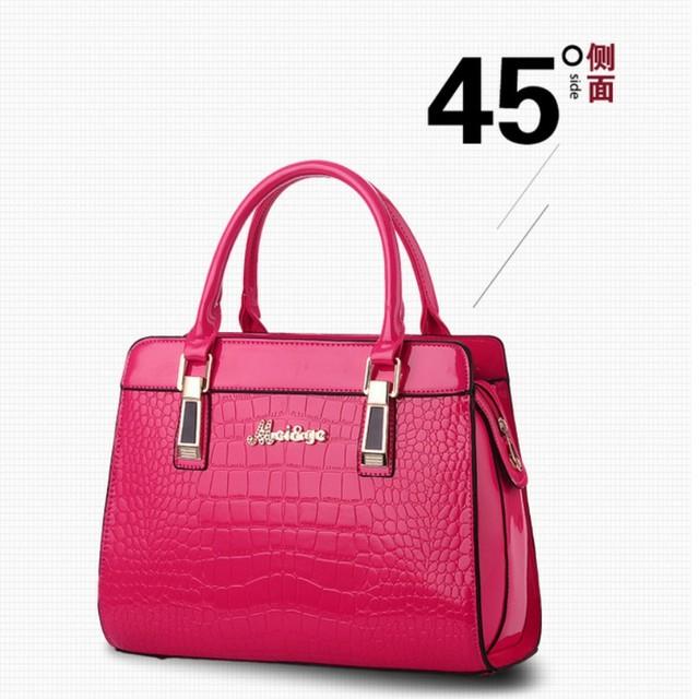100% Genuine leather Women handbags 2017 New Crocodile Fashion Shoulder Bags European style atmosphere woman Messenger bag