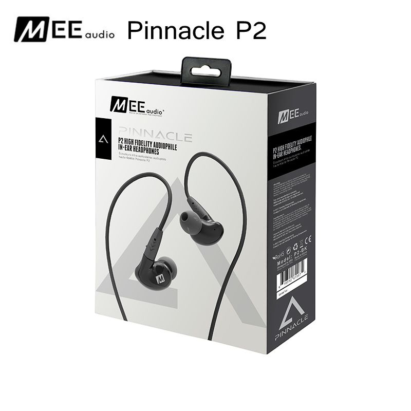 MEE audio Pinnacle P2 High Fidelity Audiophile In-Ear Earphone Detachable Cable with Mic for ios xiaomi huawei mobilephone ty hi z hp150 ohm high fidelity earbuds earphone