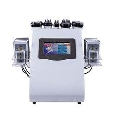 Горячая 6 в 1 полный измеритель тела сжигание жира формирователь тела лазер для похудения ультразвуковая липосакция кавитационная машина