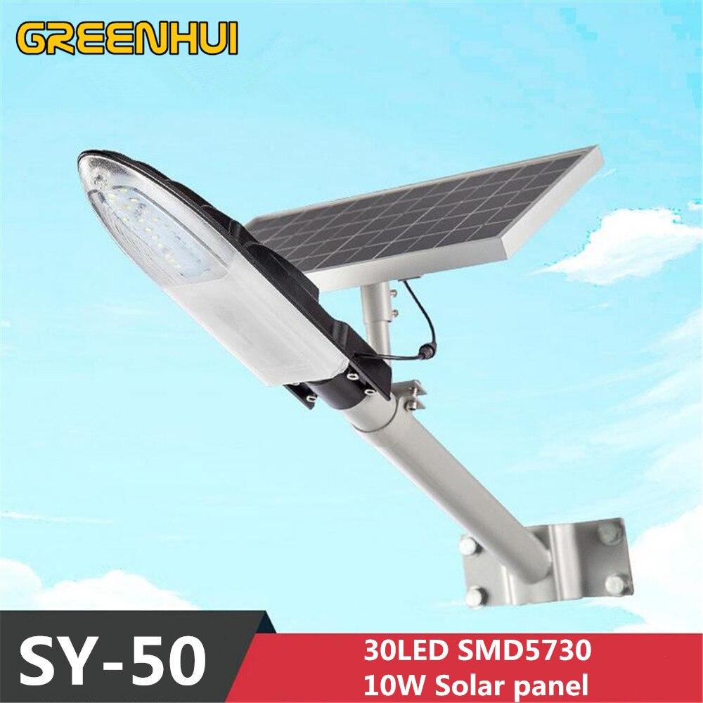 Ny design Vattentät Regnsäker IP65 30LED 7,5W LED Solar Light Street Lamp för Backyard Garden Park Road Streetlight Lighting