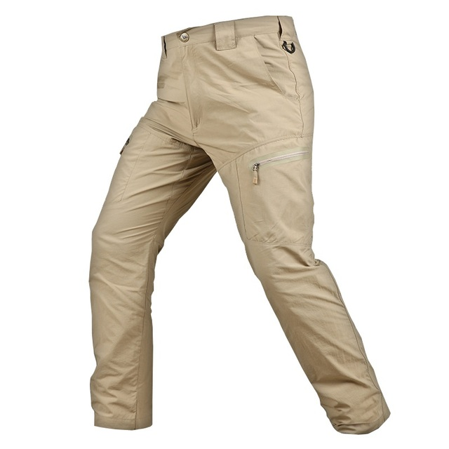 83859a587b3 Men Pants Summer Thin Tactical Pants Military Style Army Quick Drying  Lightweight Urban Combat Long Trousers Male Cargo Pants