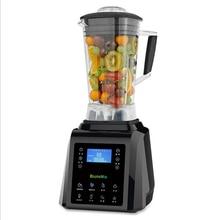Tela sensível ao toque digital automático 3hp bpa livre 2l misturador liquidificador profissional juicer processador de alimentos alta potência smoothies frutas verdes