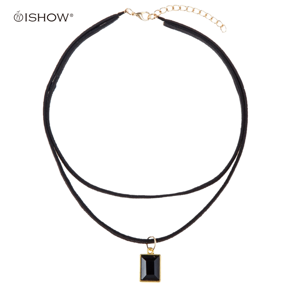 ᐃGargantilla collares para las mujeres cristal collar Collier Femme ...