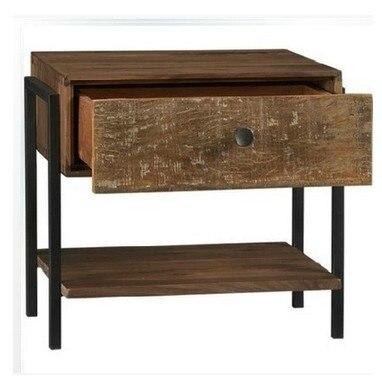 paese americano a fare il vecchio legno , ferro battuto comodino ...