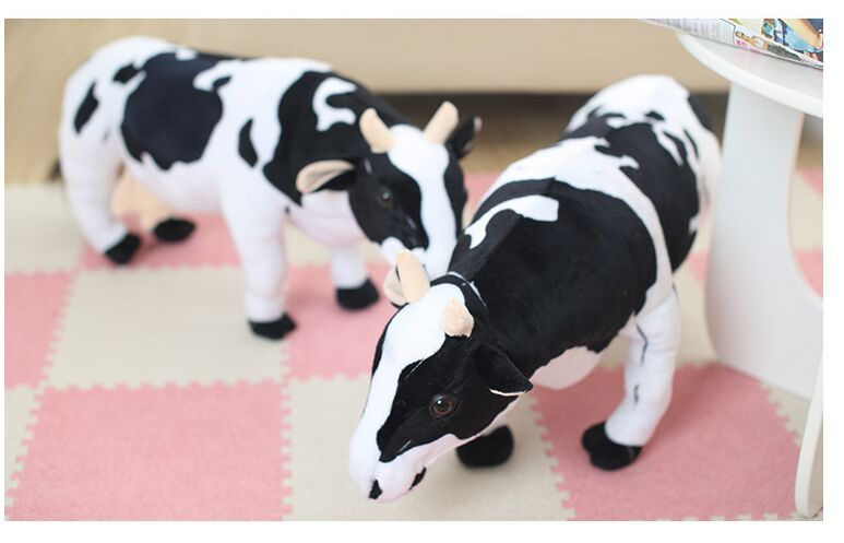 big lovely simulation cow plush toy creative stuffed cow doll birthday gift about 75cm christina fitzgerald гель атлас для ванны sensations 175мл