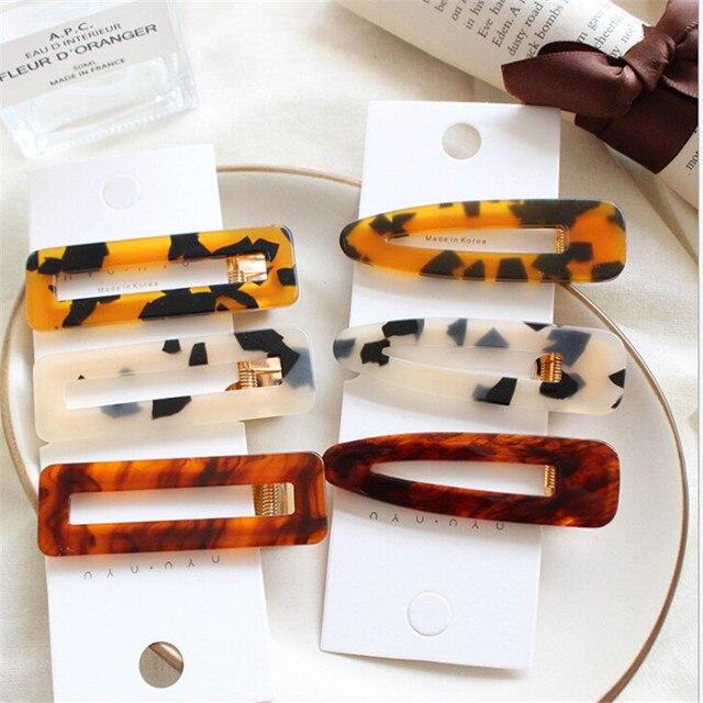 Mujeres Vintage leopardo pelo Clip peine Barrette horquilla accesorios pelo Clip belleza estilo herramientas envío gratis