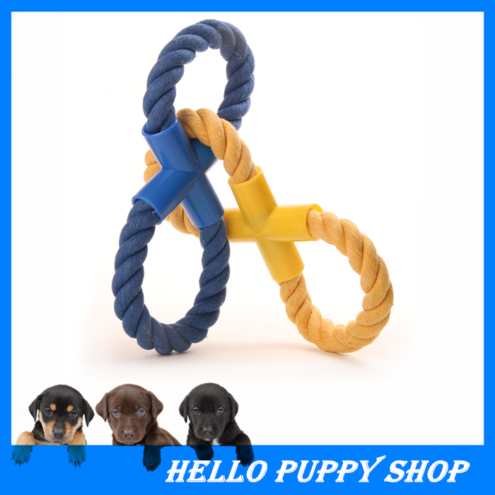 Hot Sales Pets Dogs Pet Supplies Pet Dog Puppy Cotton Chew Knot Toy Durable Braided Bone Rope 30CM Funny Tool