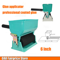 Glue Applicator Professional Coated Glue Roller Simple Portable Woodworking Glue Flow Can Be Adjusted 6 Inch