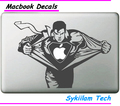 Cartoon Strong Superman for apple Sticker Macbook Skin Air 11 12 13 Pro 13 15 Retina Decal Loptop Wall Car Vinyl Logo Case