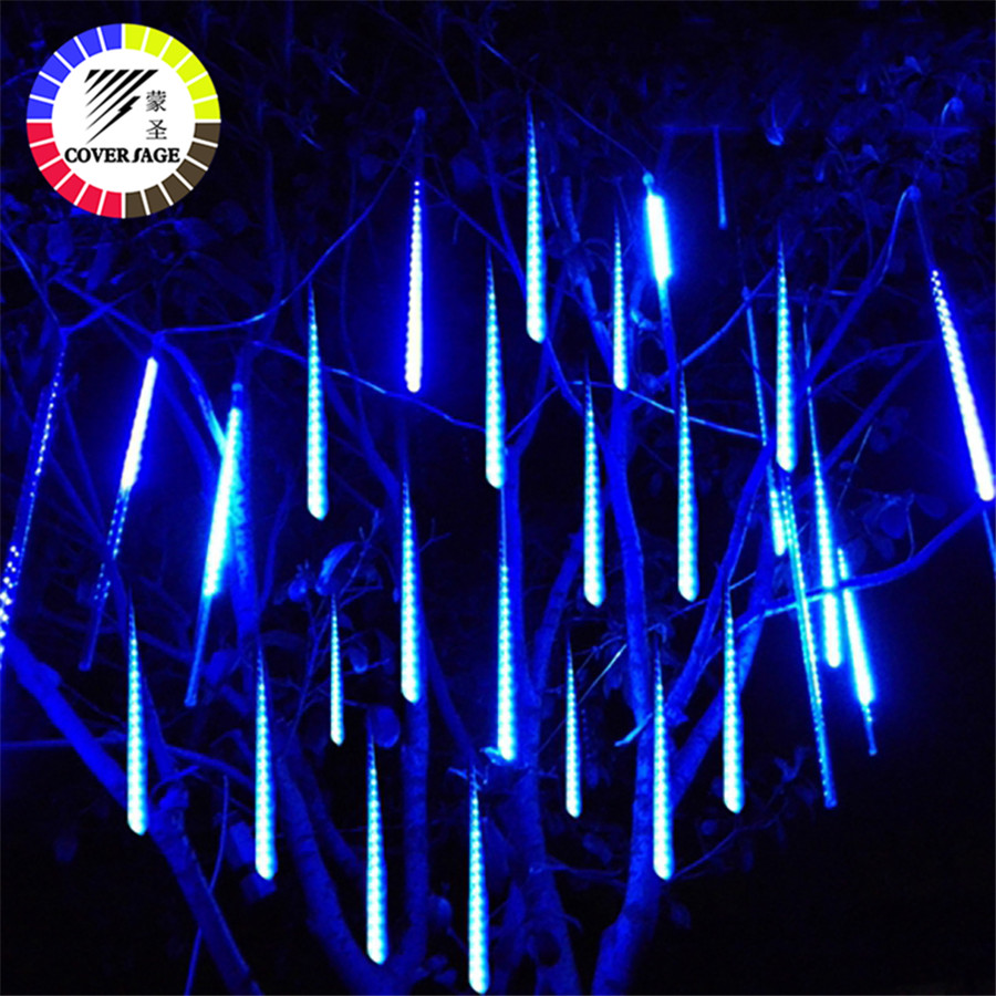 Coversage Led Meteor Garden Garland Christmas Tree Fairy Light Luces Navidad Xmas Decorative Lights Outdoor Fairy Lights String