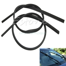 2Pcs Hot Universal Auto Car Windshield Frameless Rubber Wiper Blade Refill 65cm#T518#