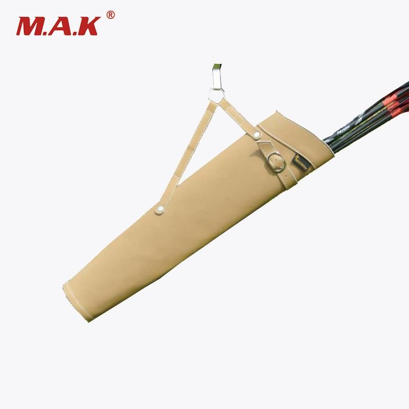 couro puro seta quiver 52x13 cm cinto lateral cintura titular saco acessorio para tiro com arco