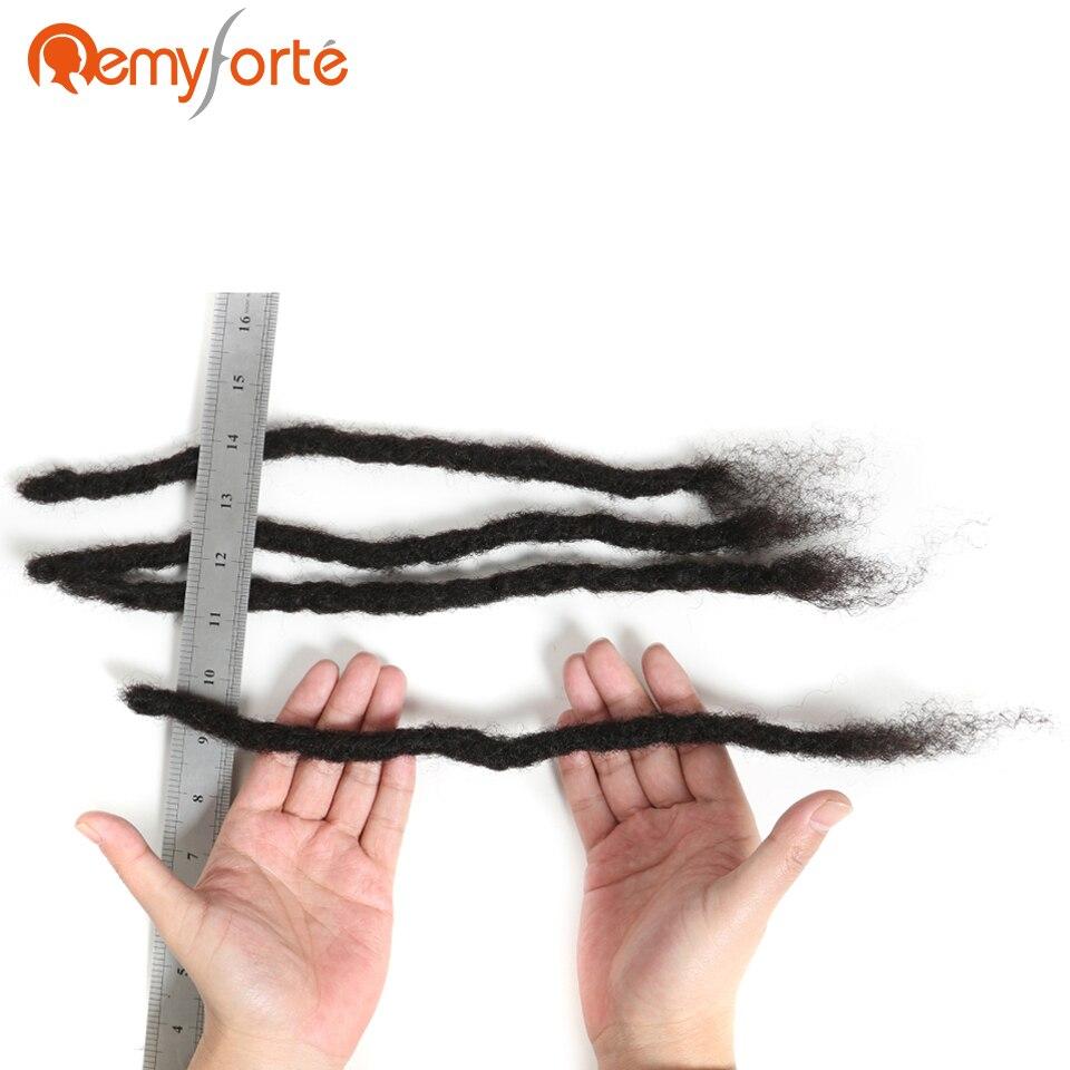 Remy Forte Hair Soft Brazilian Dreadlock Human Hair Extention 60 Strands Remy Crochet Braids Human Hair Handmade Dreadlock Hair Extensions & Wigs
