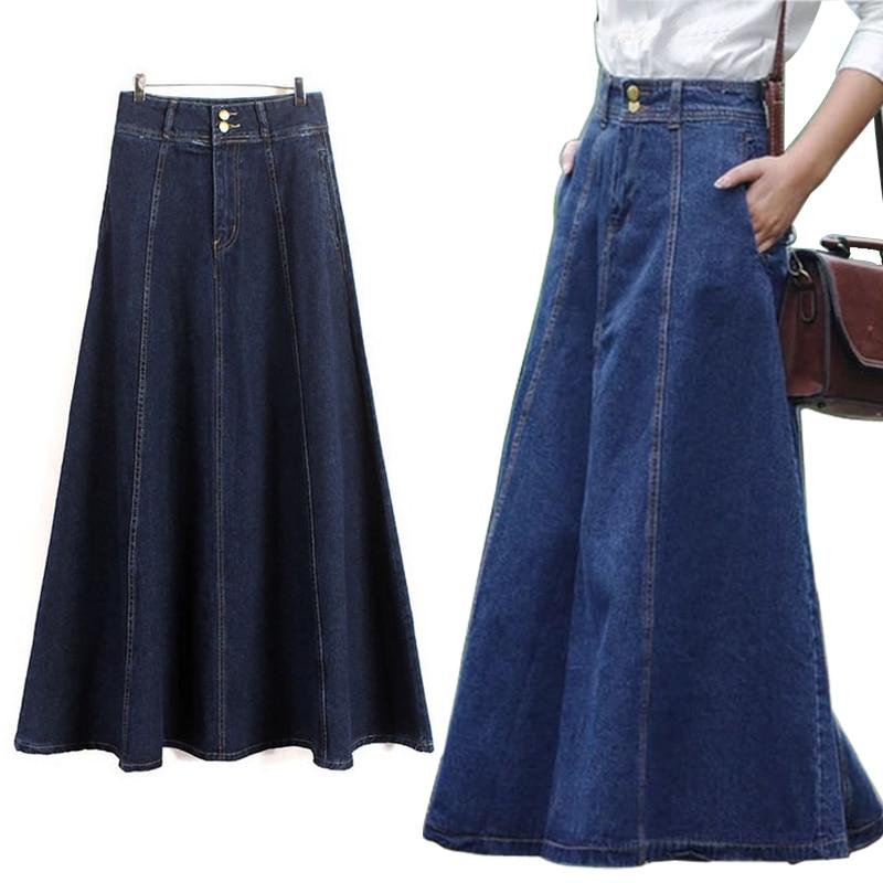 Popular Blue Jean Skirts Long-Buy Cheap Blue Jean Skirts Long lots ...