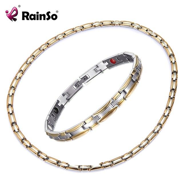 HTB1UfLCezDpK1RjSZFrq6y78VXaB - Necklace Bracelet Sets for Women Bio Energy  Fashion Magnetic Therapy