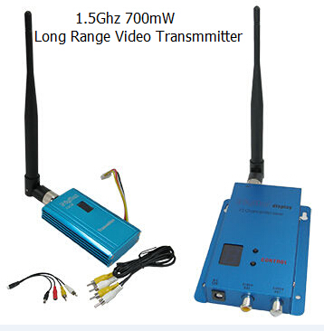 Hot Sale 1.4G/1.5G/1.6G CCTV Video Sender 700mW Wireless Transmitter and receiver with Long Range 1000-1500m high quality 1 2g fpv wireless transmitter and receiver 1 2ghz long range drone av sender with 8 channels