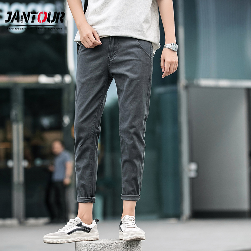 2019 Spring summer season cotton Ankle-Size Pants me New Informal Pants Mens Slim Match Chinos Trend Trousers Male Model Clothes 27 Informal Pants, Low cost Informal Pants, 2019 Spring...