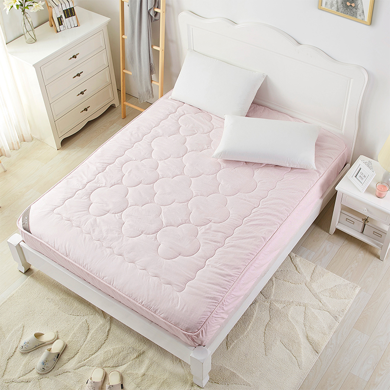 BEYOND Pink Washed Mattress Covers High Quality Quilted Bed Protection Pad Thicker Mattress Protector Cover Queen/King Size