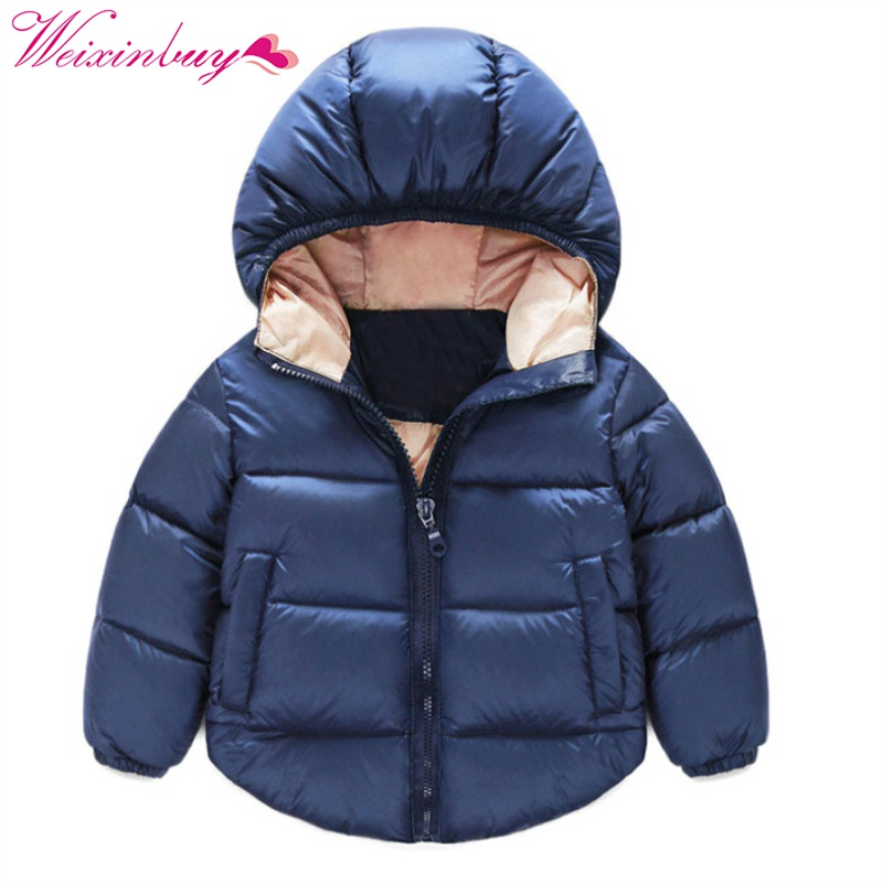Winter Baby Boy Girl Clothes Long Sleeve Casual Cotton Clothing Solid Hooded Kids Boys Girls Clothes Comfortable Coat J1 cotton baby rompers set newborn clothes baby clothing boys girls cartoon jumpsuits long sleeve overalls coveralls autumn winter