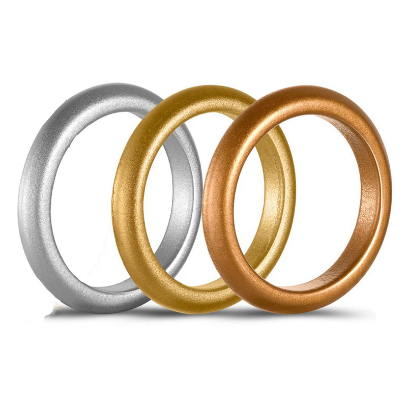 Hypoallergenic Wedding Rings: 3mm Thin Silicone Ring For Women Wedding Rings Sports