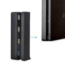 DOBE тонкий USB Hub для PS4 4 в 1 высокоскоростной адаптер 1 взаимный обмен данными между компьютером и периферийными устройствами 3,0 Порты и разъёмы с 3 портами (стандарт 2,0 Порты для PS4 тонкий игровой консольные аксессуары