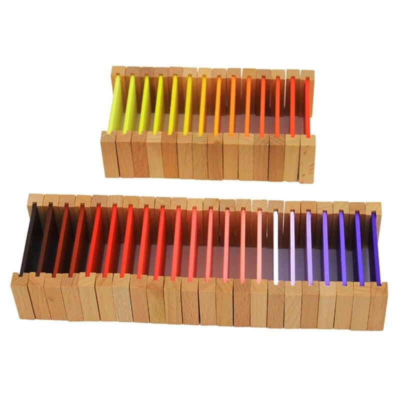 Montessori jouets en bois Montessori couleur comprimés sensoriel apprentissage jouets éducatifs pour les tout-petits Juguetes Brinquedos MG1144H - 4