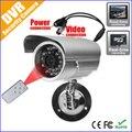 El Envío Gratuito! al aire libre de audio/video dvr cámara micro-loop de grabación de seguridad cctv cámara con adaptador de tarjeta sd y soporte