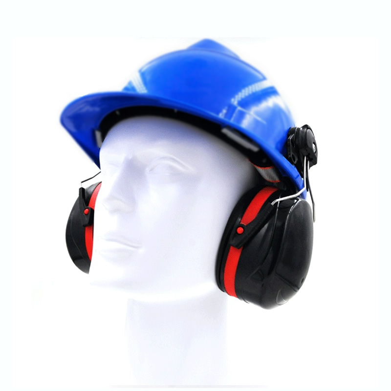 High Quality Work Anti-Noise Earmuffs For Safety Helmet Ear Protector For Woodwork Airport Factory Hearing Protection adjustable anti noise head earmuffs noise insulation ear protector nrr 30db for work study shooting woodwork hearing protection