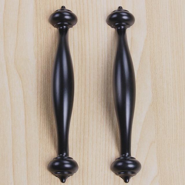 10pcs/Set 128mm Black Door Handles For Shoe Cabinet Clothespress Cupboard  Drawer Locker Closet Handle