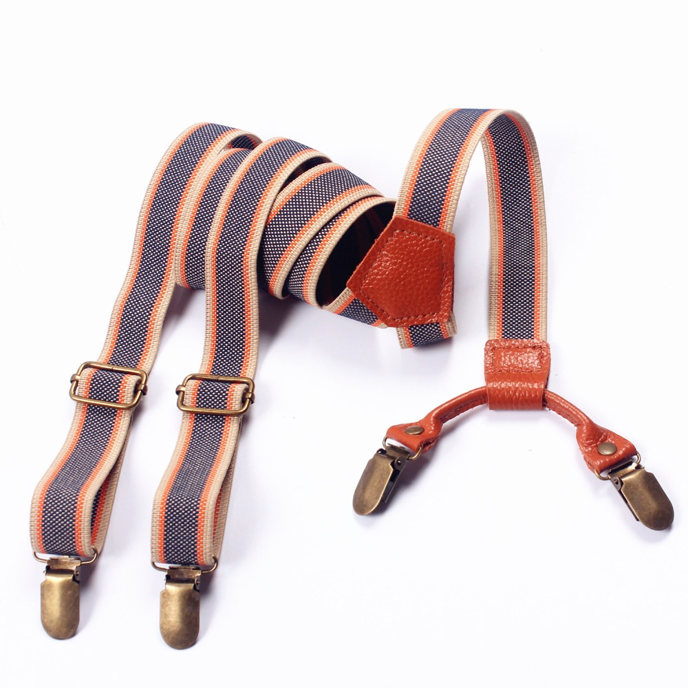European Fashion Vintage Suspenders With Four Clip Men's And Women's Casual Wear Accessories FY18102907