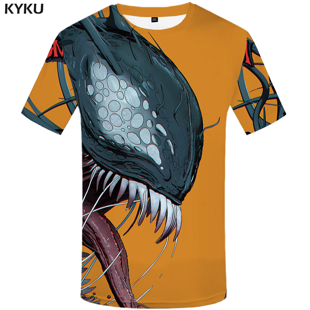 3D Print Casual Venom Funny T-Shirt Short Sleeve Graphic Tee Womens Mens S-5XL