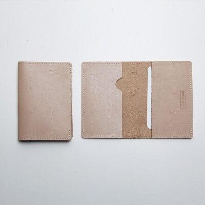 LANSPACE мужской кожаный держатель для карт брендовый маленький чехол для кредитных карт модные держатели для карт - Цвет: Primitive color