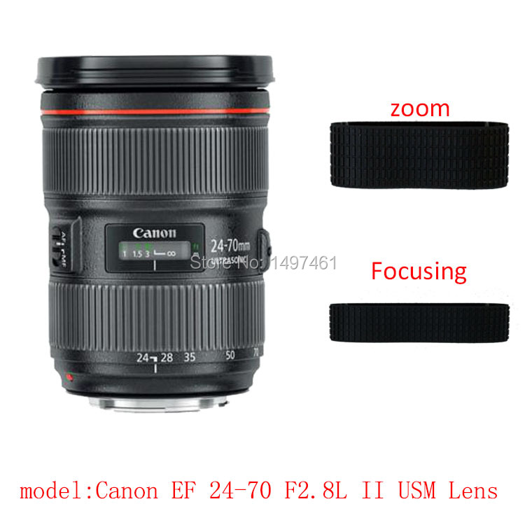 Lens Zoom and focus Rubber Ring/Rubber Grip Repair Succedaneum For Canon EF 24-70mm f/2.8L II USM lens