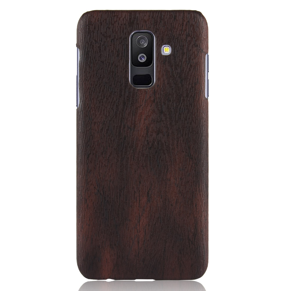 Wood PU Leather PC hard Cover Soft Wood Slim Case For Samsung A6 plus A5 A3 A7 A8 2016 2017 2018 image