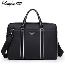 2016 DANJUE New Style For iPad/Macbook Fashion Shoulder Bags High Quality Genuine Cowhide Solid men Notebook bag DJ16