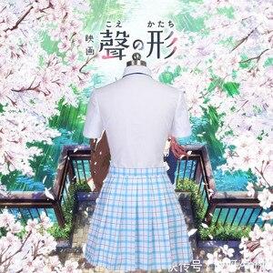 Image 4 - Костюм для косплея Shouko Nishimiya Shoko из японского аниме «тихий голос», школьная форма, костюм, одежда, парик