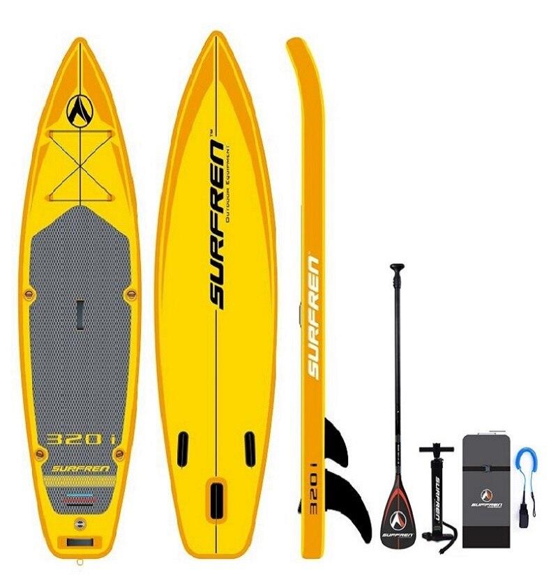 SURFREN Tous Round320i De Surf Gonflable Tiennent le conseil de palette iSUP Surf paddle wakeboard kayakboat size320 * 81*15 cm