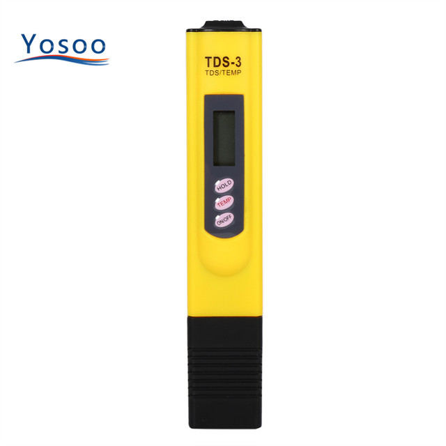Purity Filter TDS Meter Tester 0-9990 PPM Temp Portable 3 Colors YOSOO Portable Meter Digital LCD Water Quality Testing Pen